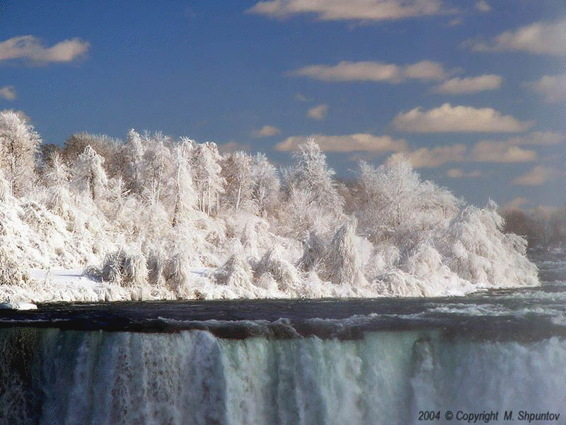 Images and Places, Pictures and Info: niagara falls frozen ... |Niagara Falls Frozen 2009