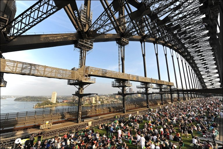 Breakfast at Sydney Harbour Bridge