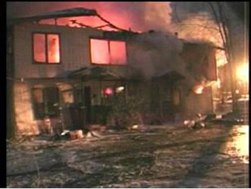 Four-Plex Destroyed by a Fire